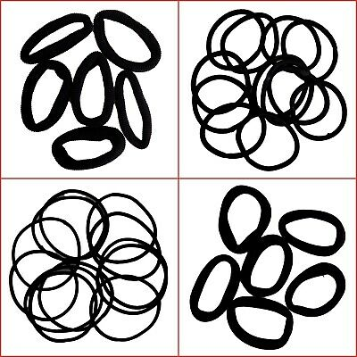48 X Black Hair Tie Ties Elastic Rubber Band Rope Girl Ponytail Holder Fashion