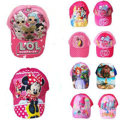 Girls Kids Baseball Cap LOL My little pony Unicorn Princess Cartoon Sun Hats