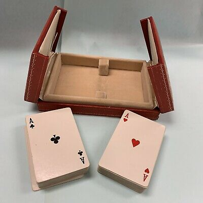 Vintage 1970s Les Must De Cartier Double Playing Card Boxed Set Collectible RARE