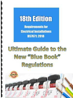 18th Edition BS7671 IET Electrical Regulations Home Study Guide & Q&A's