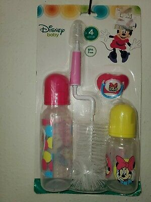 Disney Baby Flow Baby Bottle Set with Bottle Brush Pacifier