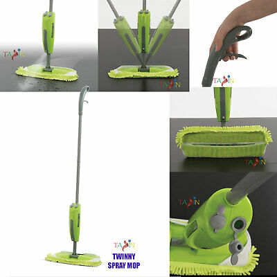 Spray Mop Water Spraying Floor Cleaner Tiles Micro-fibre Marble Kitchen Sweeper