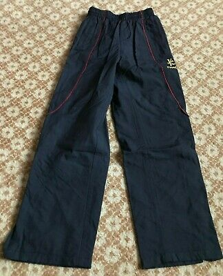 KUKRI girls navy blue tracksuit bottom excellent cond. age 13-14 years