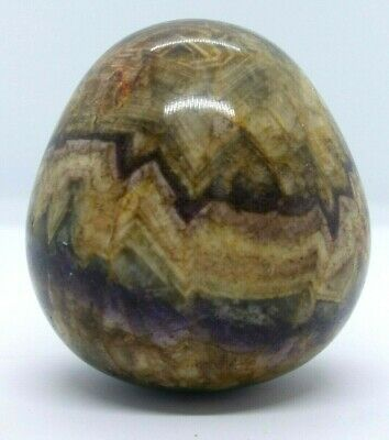 SUPERB RARE Antique 19th Century Blue John Specimen Stone Mineral Egg