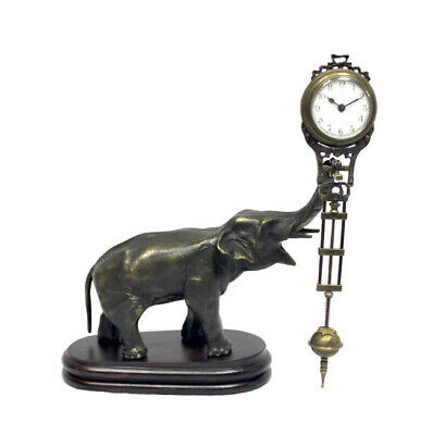 German Style Junghans Brass Elephant Figure Swinging Swinger Clock