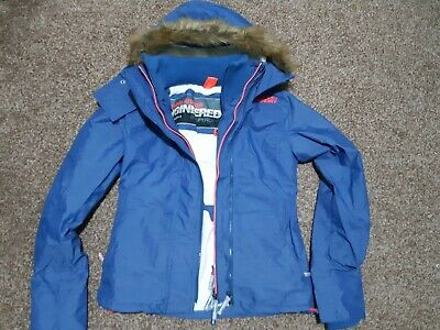 Superdry Hooded Faux Fur Sherpa SD-Windattacker Jacket size XS (labelled as S)