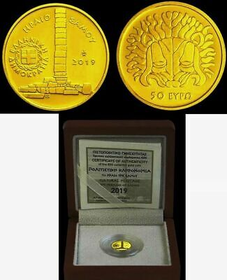 NEW Best price GOLD Proof 🅰️ Ancient GREECE Grecia 🅰️ 50 EURO 2019 SAMOS