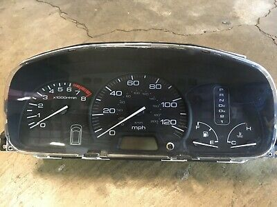 97-02 Honda Prelude Manual Tach RPM White Face Gauge Kmh BC CANADA