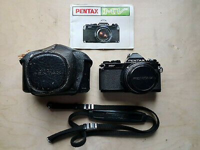 Pentax MV 35mm SLR Film Camera w/ SMC Pentax-M 50mm 1.2 Lens