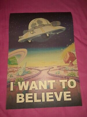 I want to believe Kraft Paper Poster