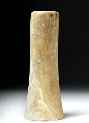 Ancient Bactrian Banded Alabaster Staff Handle