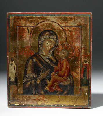 Early 19th C. Russian Icon - Mother of God Theotokos