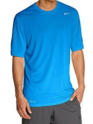 Nike Men's size Small Blue Dri-Fit Legend Short Sleeve T-Shirt in Ex Condition