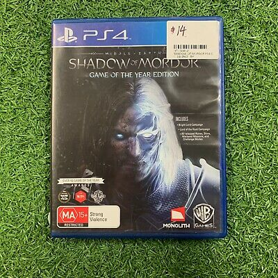 Middle-earth: Shadow of Mordor - Game of the Year Edition - PS4 Game in case