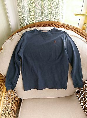 Next Boys Navy Blue Jumper with Brown Logo Age 9 Height 134cm