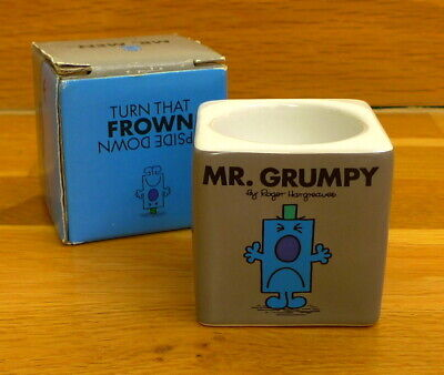 Mr Men and Little Miss - Mr Grumpy Block Egg Cup - Brand New