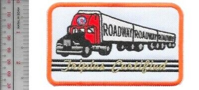 Vintage Trucking Roadway Express Inc Triple Certified Akron, Ohio Driver Patch