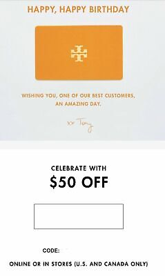 Tory Burch $50 Off $100 C0upon Promo Code Exp 02/29/20 **INSTANT DELIVERY**