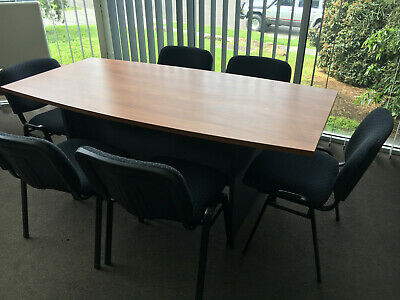 Office meeting table 1800 x 900 and 6 chairs