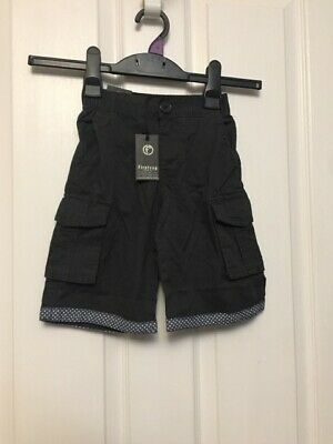 Bnwt Stunning Boys Firetrap Shorts Washed Black Two Pockets Age 3-4 Years