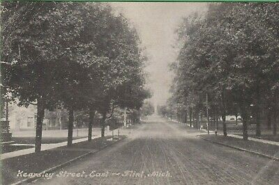 Vintage Antique Michigan MI  Postcard Kearsley Street East Flint 1908
