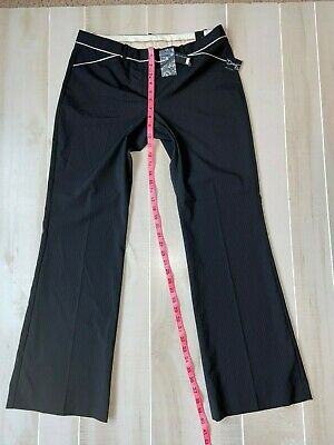 Nwt Women's The Limited Drew Fit Black Pinstripe Dress Pants Size 10