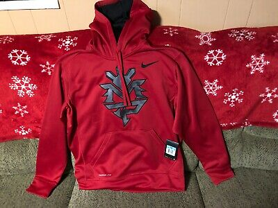 PACQUIAO Therma Hoodie RedGray Medium Men's NIKE MANNY Fit tdhQCsrx