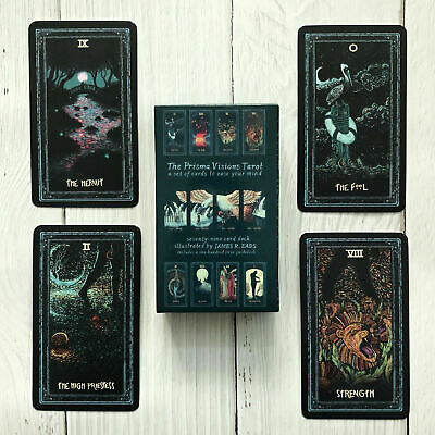 US 78CS Tarot Cards Deck Silver Plating Prisma Visions Divination Board Game New