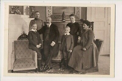 Vintage Postcard  King William II & Queen Charlotte of Württemberg &Family