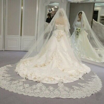 2 Tiers Cover Face Shining Sequined Lace Wedding Veil with Comb New Bridal Veil