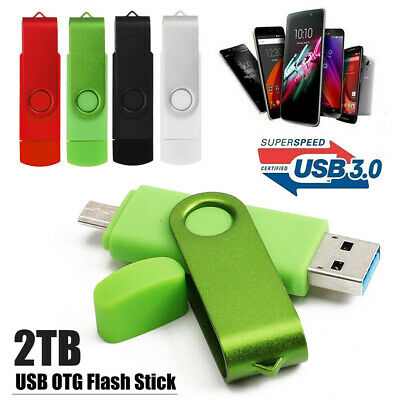 OTG 2TB USB 3.0 Flash Memory Stick Pen Drive Swivel U Disk For Android  Phone PC