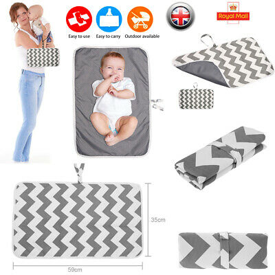 Waterproof Baby Nappy Changing Mat Portable Travel Washable Diaper Play Foldable