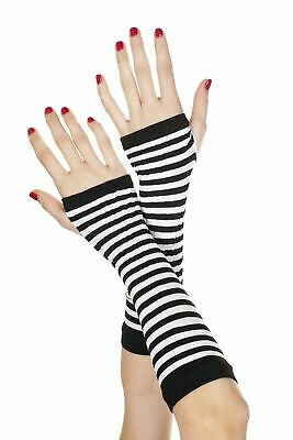 Women Sexy Lingerie Gloves Opaque Stripes Arm Warmer Costumes Cosplay Party