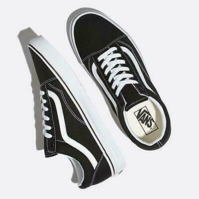 VAN Old Skool Skate Shoes Black/White All Size Classic Canvas Sneakers