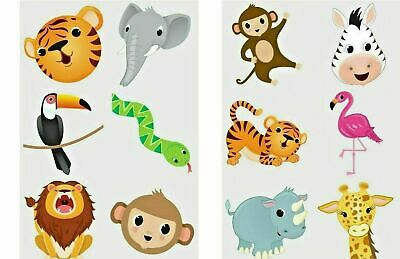 24 x JUNGLE ZOO ANIMAL Temporary Tattoos Kids Boys Girls Party Bag Filler Toy