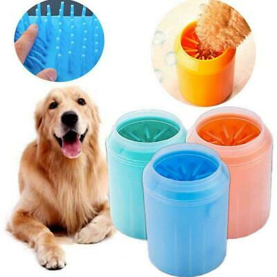Portable Pet Dog Cats Paw Foot Washer Cup Clean Brush Puppy Feet Mud Cleaner UK