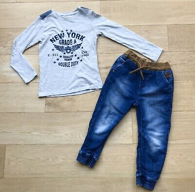 RIVER ISLAND NEXT *5y BOYS JEANS TOP OUTFIT AGE 5 YEARS ( 5-6y )