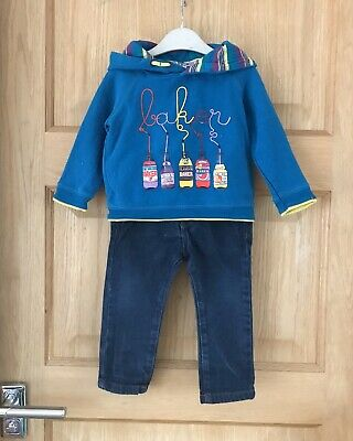 TED BAKER NEXT *6-9m BABY BOYS NEXT JEANS & Designer HOODIE TOP 6-9 MONTHS