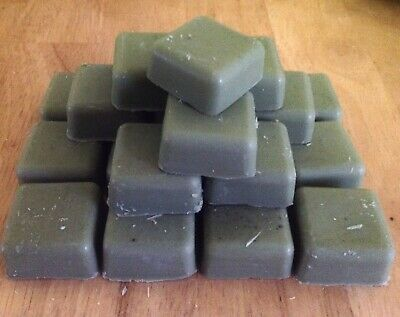 Used Scrap Candle Melt Tart Making Soy Wax Blocks  GREEN 450g DIY  RECYCLED