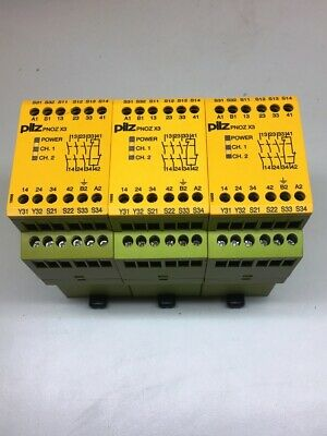 Pilz 774310 , PNOZ X3 24VAC 24VDC E-STOP SAFETY RELAY ***PACK OF 3***