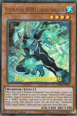 Yugioh - Elemental Hero Liquid Soldier  - Led6-En013  Ultra  Magical Hero 1St Ed