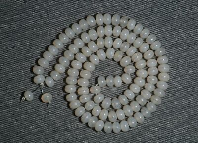 China Natural handcarved old white agate one Line Pharmacist beads Bracelet