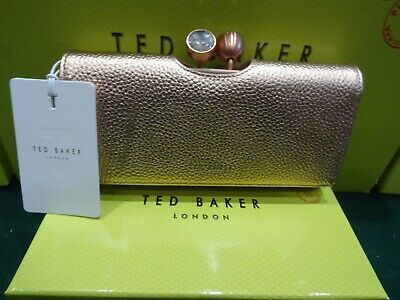 New With Box & Tags Ted Baker Solange Rose Gold Matinee Purse