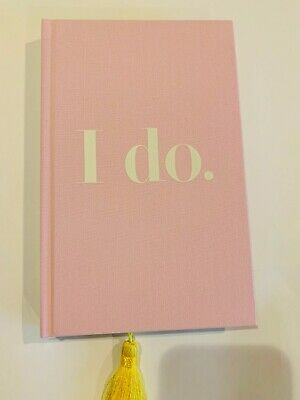 """Kate Spade New York """"I Do"""" Bridal Journal Wedding Planner 200 lined Pages, Pink"""