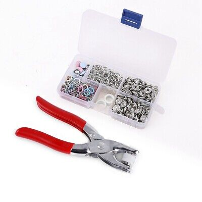 1X(110pcs push buttons 5 hollow / solid claws + clip + storage box X2B2)