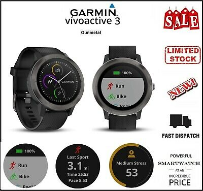 Garmin Vivoactive 3 GPS Smartwatch with Built-In Sports Apps and Wrist Heart Rat