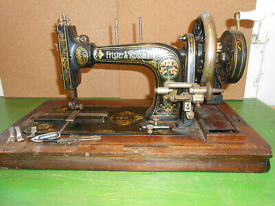 Frister & Rossman Hand Cranked Sewing Machine Circ 1900 + extras W.Pierssene