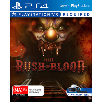 Until Dawn Rush Of Blood PlayStation 4 PS4 PS VR GAME BRAND NEW FREE POSTAGE