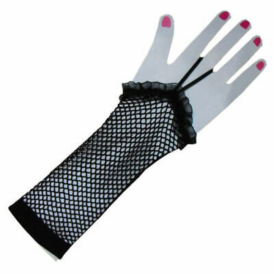 Wholesale JOBLOT 99 Pairs Black Fishnet Gloves Mid Length Fancy Dress Goth