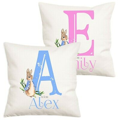 Personalised Peter Rabbit Christening Gift Nursery Baby Beatrix Potter Pillow
